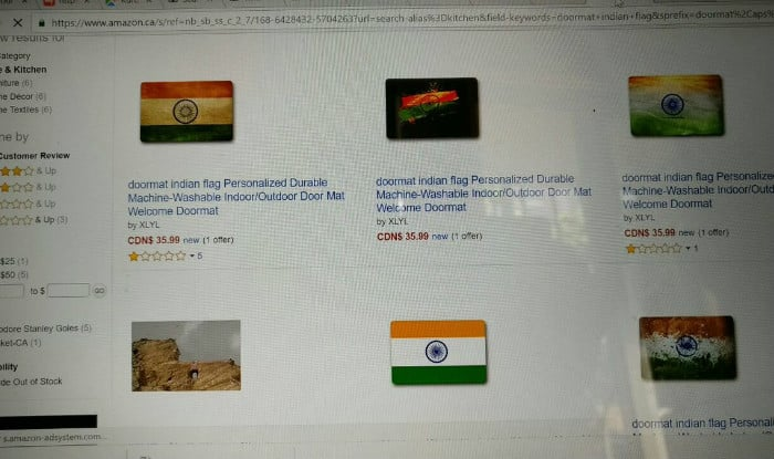 Amazon Indian Flags Doormat Sushma Swaraj