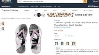 Mahatma Gandhi slippers sold on Amazon after Indian Flag doormat row! CafePress-made product insults Father of the Nation! (See Pictures)