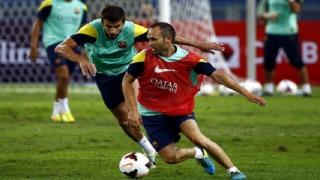 Barcelona prepare for Atletico Madrid sans Iniesta, Busquets