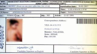 WTF! Bihar SSC admit card of a girl has a topless picture of popular actress!