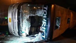 19 injured as truck hits bus in Delhi Cantt