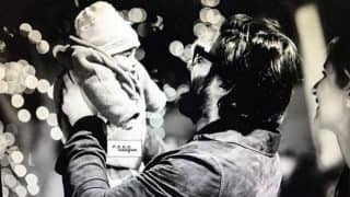 Too cute! Fawad Khan cradles his baby daughter Elayna and the picture goes viral!