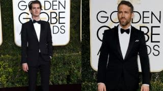When Ryan Reynolds locked lips with Andrew Garfield after losing the Golden Globe Award 2017 to Ryan Gosling! Watch video