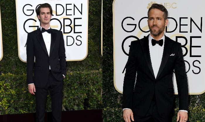 Watch Ryan Reynolds snogging Andrew Garfield as Ryan Gosling wins Golden Globe