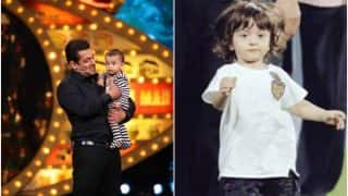 Salman Khan launches nephew Ahil as a host on Bigg Boss 10, spends quality time with Shah Rukh Khan's kid AbRam too!