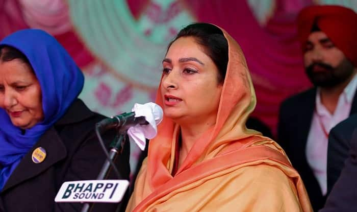 Harsimrat Kaur Badal campaigning for upcoming Punjab Assembly Elections