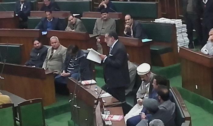 Haseeb Drabu Jammu and Kashmir Budget