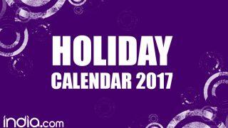 Calendar 2017: New Year 2017 Calendar with List of all Indian Holidays & Festivals