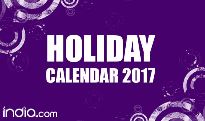 Holiday Calender 2017