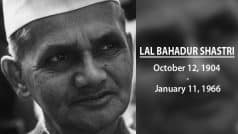 Lal Bahadur Shastri Death Anniversary: 5 things about former Prime…