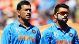 Champions Trophy 2017: After Virat Kohli, MS Dhoni gives pep talk ahead of warm-up tie against New Zealand, watch video