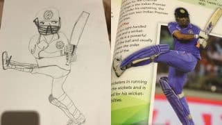 Virender Sehwag's son Aaryavir draws MS Dhoni's sketch, proud daddy shares picture on Twitter