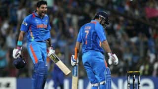 India vs England 2nd ODI 2017: Yuvraj Singh, MS Dhoni propel hosts to massive 381/6