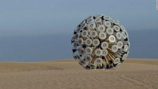 Aghan refugee designs tumbleweed-like anti-landmine exploder Mine Kafon (Watch video)