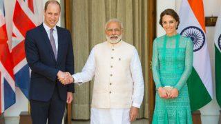 Narendra Modi presented book, shawl to Prince William, Kate Middleton