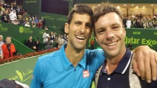When Novak Djokovic was surprised by his opponent as he wanted to take selfie with the champ on court