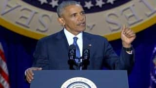 Barack Obama Farewell Speech: Outgoing US President rejects discrimination against Muslim Americans, promises destruction of ISIS