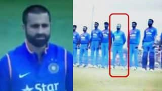 Parvez Rasool spotted chewing gum during national anthem, faces Twitter ire (Watch video)