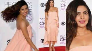 Style Scoop: Priyanka Chopra at People's Choice Awards 2017 is pretty hot in peachy pink!