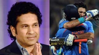 MS Dhoni & Yuvraj Singh's partnership in India vs England 2nd ODI: Sachin Tendulkar calls Dhoni-Yuvi 'superstar and rockstar'