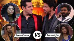 Bigg Boss 10: Salman Khan vs Shah Rukh Khan with Team Karan and Team Arjun! #SultanMeetsRaeesOnBB10 trends on Twitter