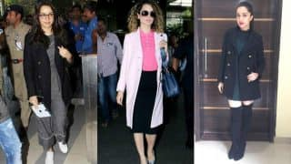 Kangana Ranaut and Shraddha Kapoor show us how to travel in style with their winter coats!