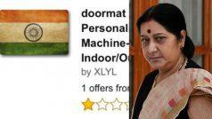 Indian Flag doormat sold on Amazon! Sushma Swaraj demands apology…