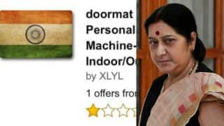 Indian Flag doormat sold on Amazon! Sushma Swaraj demands apology from Amazon & orders to remove products insulting the National Flag