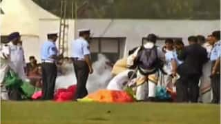 IAF paratrooper injured due to faulty parachute at Vibrant Gujarat Summit in Gandhinagar