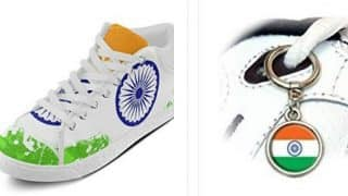 Besides doormats humiliating India, Amazon also offers Indian flag-printed shoes, lace metal hoops