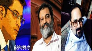 Arnab Goswami's new media venture 'Republic' funded by Rajya Sabha MP Rajeev Chandrasekhar, ex-Infosys director Mohandas Pai