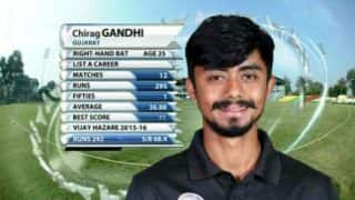 Chirag Gandhi scores unbeaten 136 to lift Gujarat to 300/8 in Irani Cup