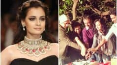 Dia Mirza in Ranbir Kapoor-starrer Sanjay Dutt biopic; shares first picture from set on Twitter!
