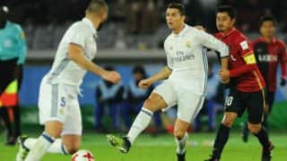 Real Madrid equal Barcelona's Spanish record of 39 games unbeaten as they defeat Granada 5-0