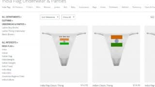 Indian National Flag on Doormats to Underwear & Panties! Will CafePress face the anger of Sushma Swaraj as Amazon did?