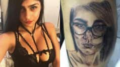 Pornstar Mia Khalifa blasts fan for tattooing her face on his thigh! See Instagram picture!