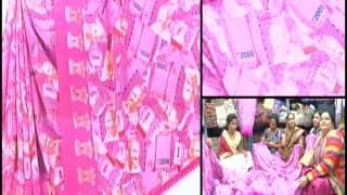 Demonetisation has given way to fashion trends too, after Whatsapp and Facebook sarees now drape Rs 2000 printed sarees!