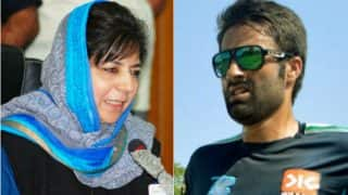 Mehbooba Mufti congratulates Parvez Rasool for making it to Indian cricket team
