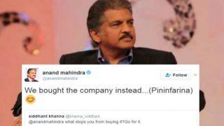 महिंद्रा ग्रुप के चेयरमेन आनंद महिंद्रा छाए ट्विटर पर, दिया था एक यूज़र तो शानदार जवाब