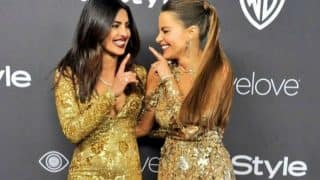 Ahem! Priyanka Chopra and Sofia Vergara get too close in the elevator at the Golden Globes 2017! (Watch video)