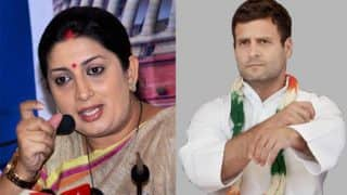 Rahul Gandhi's comments against Narendra Modi reflect his worry: Smriti Irani