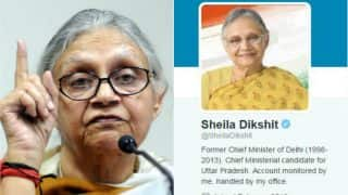 Sheila Dikshit remains as chief ministerial candidate for Uttar Pradesh polls