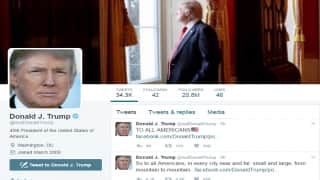 Donald Trump's twitter account gets more than five million followers