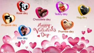 Valentine Week List 2017: Rose Day, Propose Day, Kiss Day & complete list of days to celebrate till Valentine's Day