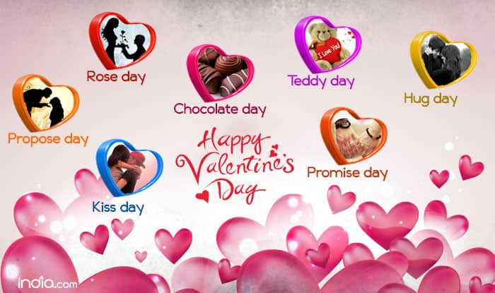 valentine week list 2017: rose day, propose day, kiss day, Ideas