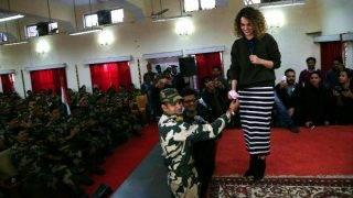 कंगना राणावत ने जम्मू में की BSF जवानों से मुलाकात, कहा ये उनके लिए गर्व की बात है