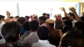 Caught on Camera: Rajasthan lawmaker's husband slaps police officer