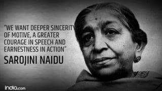 Sarojini Naidu Birth Anniversary: President Ram Nath Kovind Offers Tribute on Twitter; Here Are Lesser-Known Facts About the Nightingale of India