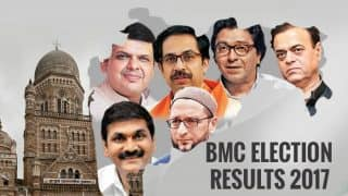 BMC Election Results 2017 LIVE News Updates: BJP wins 82, Shiv Sena inches ahead with 84 seats