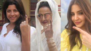 BMC Elections 2017: Rekha, Zoya Akhtar, Anushka Sharma cast their vote; pose with their inked fingers!